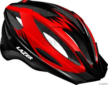 Buy Low Price Lazer Clash Helmet with Visor: Red/Black (BLU2005666093)