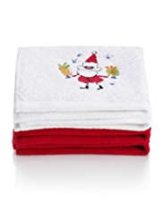 2 Christmas Design Face Pack Towels