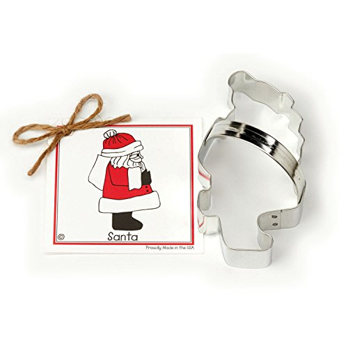 Santa Claus Cookie and Fondant Cutter - Ann Clark - 5.3 Inches - US Tin Plated Steel (Elf From Santa Clause)