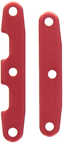 Traxxas 6823R Bulkhead Tie Bars Front and Rear Aluminum Red-Anodized, Slash 4x4