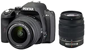 Pentax K-R 12.4 MP Digital SLR Camera with 3.0-Inch LCD and 18-55mm f/3.5-5.6 and 50-200mm f/4-5.6 Lenses (Black)