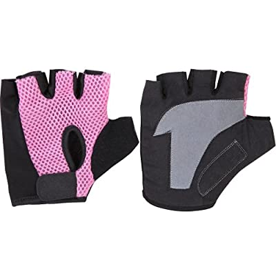 Fitness Gear Pink/Black Small weight lifting ladies cycling bike training gloves finger loop gym training fitness. from Fitness Gear