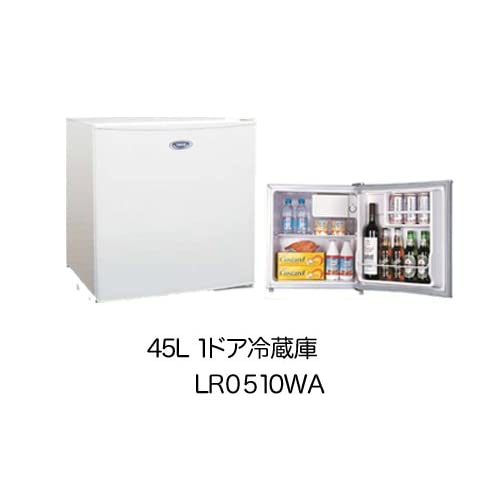 TECO 1ドア直冷式小型冷蔵庫 45L LR0510WA