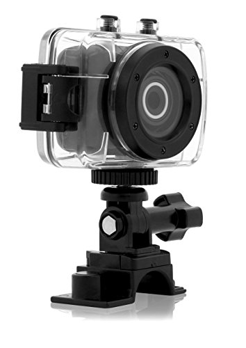 Emerson EVC455 HD Sports Action Video Cam Kit With Waterproof Case, Helmet Mount and Bike Mount Video Camera with 2-Inch LCD (Black) (Emerson Action Cam Digital Video compare prices)