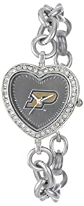NCAA Ladies CH-PUR Heart Series Purdue Boilermakers Watch by Game Time