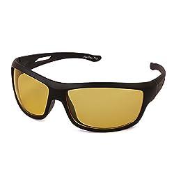 Tim Hawk Night Vision Sunglass Bike Goggles (Yellow)