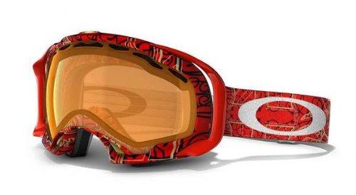 Oakley Simon Dumont Splice Griffin Snow Goggles Red Persimmon
