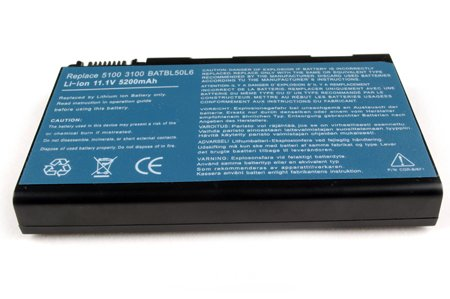 Acer Aspire 3100 3690 5100 5110 5610 5610Z 5630 5650 5680 9110 9120 Battery -- Replacement 4800 mAh 6 Cells Laptop Battery