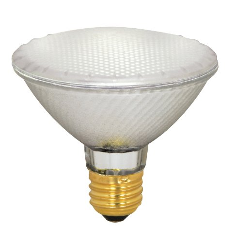 Satco S4131 39 Watt (50 Watt) 500 Lumens PAR30 Short Neck Halogen Flood 42 Degrees Frosted Light Bulb, Dimmable