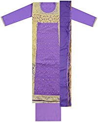Maria Collection Women's Unstitched Dress Material (Violet )