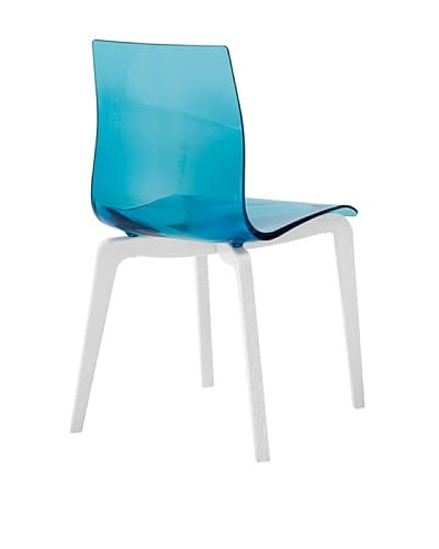 Domitalia Gel-L Chair, Transparent Blue/Ash White