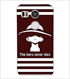 PrintDhaba Quote D-5853 Back Case Cover for LG NEXUS 5X (Multi-Coloured)