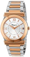 Salvatore Ferragamo Men's FI0010013 Vega Gold Ion-Plated Stainless Steel Silver Sunray Dial Quartz Watch by Salvatore Ferragamo