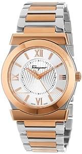 Salvatore Ferragamo Men's FI0010013 Vega Gold Ion-Plated Stainless Steel Silver Sunray Dial Quartz Watch by Salvatore Ferragamo