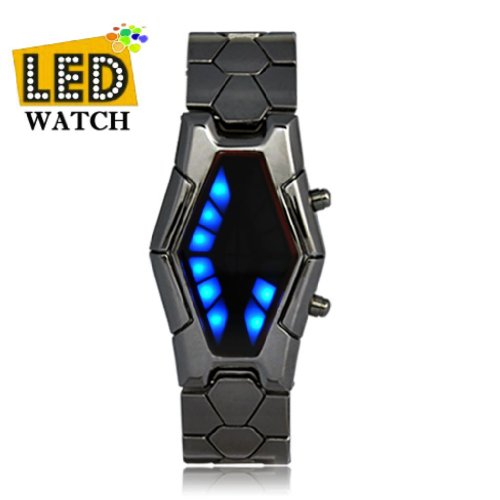 Soleasy Men'S New Fashion Inspired Red And Blue Led Wrist Watch Jmw0037