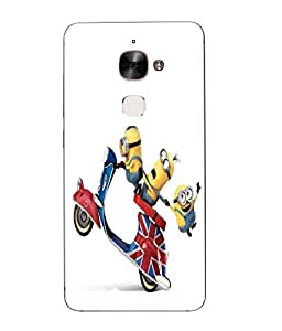 Case Cover Minions Printed Yellow Hard Back Cover For Letv Le Max 2