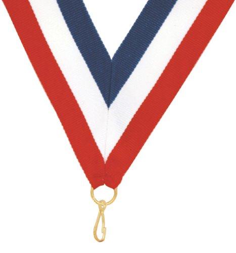 все цены на  Silver Wreath Pinewood Derby Die Cast Medal with Red, White & Blue V-neck Ribbon  онлайн