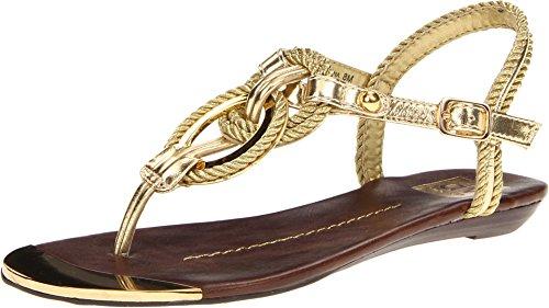 Dv By Dolce Vita Women'S Agnyss Sandal,Gold,6 M Us
