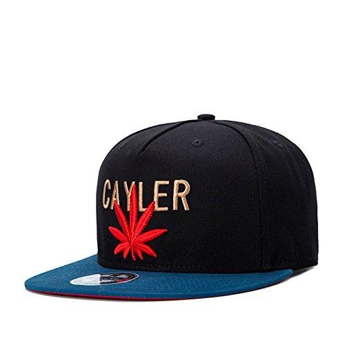 Unisex-Hip-Hop-Embroidered-Red-Marijuana-Weed-Snapback-Hat-Adjustable-Baseball-Cap