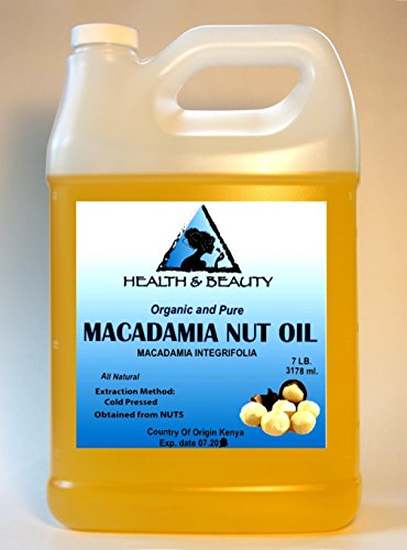 Macadamia Nut Oil Organic Carrier Cold Pressed 100% Pure 128 Oz, 7 Lb, 1 Gal front-766929