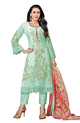 Mahaveer Fashion Women's Dress Material (9795_30_630002_Green_Free Size)