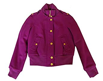 Amazon Com Baby Phat Womens Military Bomber Wool Jacket