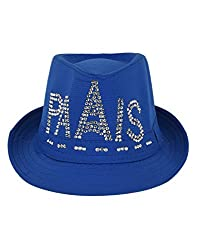 Tiekart Blue Embelished Funky Hats