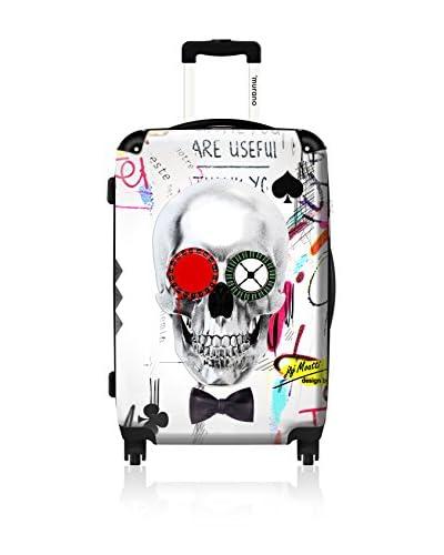 "ikase Crazy Skull 24"" Hardcase, White"