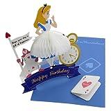 ふしぎの国のアリス ハニカムバースデーカードディズニー誕生日おめでとうメッセージカード通販