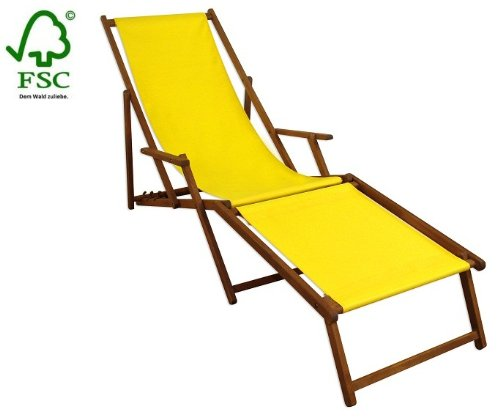 Sonnenliege Gartenliege Deckchair Saunaliege inkl. abnehmbarem Fußteil jetzt kaufen