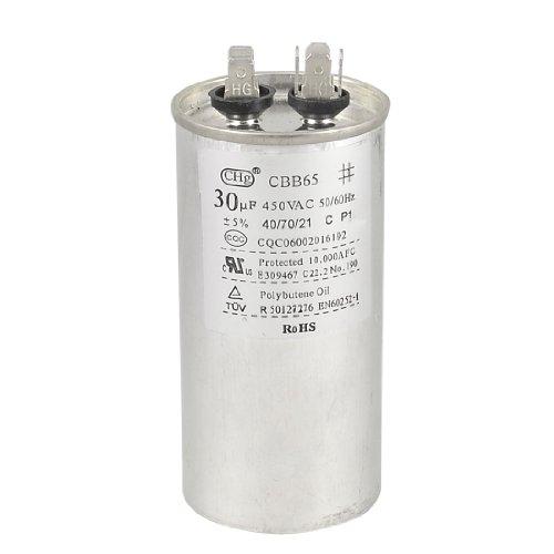 Air Conditioner Compressor Start Motor Capacitor 50/60Hz 30Uf 450 Volts Cbb65