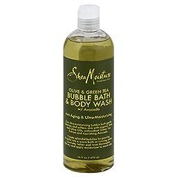 SheaMoisture 16 oz Olive & Green Tea Bubble Bath & Body Wash