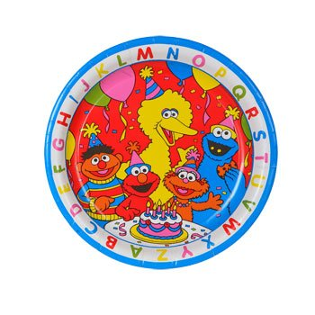 "Sesame Street 9"" Luncheon Party Plates ABC - 1"