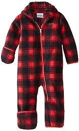 Columbia Baby Boys\' Snowtop II Bunting, Bright Red Tartan Lumberjack, 18-24 Months