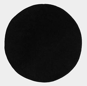 ikea saxan round bath bathroom mat rug black
