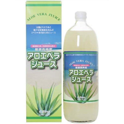 ジーブレス 厳選高純度アロエべラジュース 瓶 1L