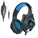 #7: Kotion Each GS410 Headphones with Mic and for PS4, Xbox One, Laptop, PC, iPhone, Android Phones, Tablets, iPad, Samsung, Nexus, LG, Pixel, Oppo, Lenovo, Xiaomi, Sony (Black/Blue)