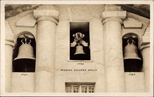 Bells At Mission Dolores San Francisco, Ca Original Vintage Postcard