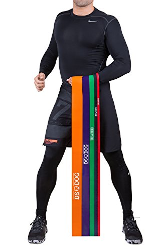 Resistance Band By DS DOG - Workout Band With 25-80 Pounds In Resistance - Crossfit Pull Up Bands For Home Or Gym - Powerlifting Exercise Bands - Extra Durable 100% Natural Latex - Green
