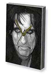 ALICE COOPER - Canvas Clock (LARGE A3 - Signed by the Artist) #js005