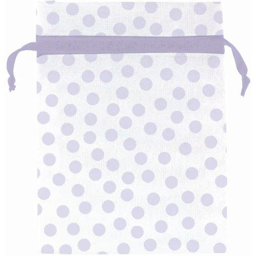 Lavender Dot Organza Bags 12ct