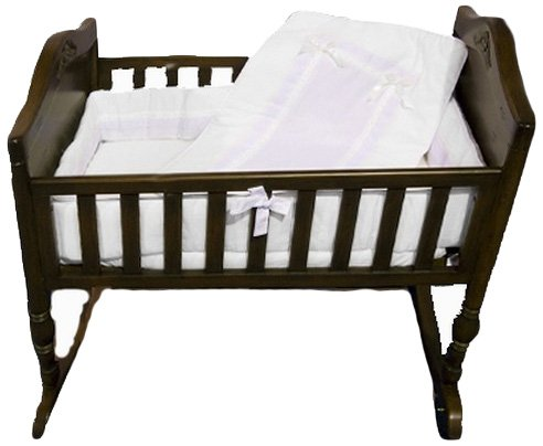 Baby Doll Royal Cradle Bedding Set, White