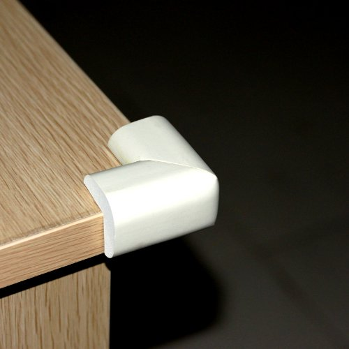 Ostart 8 White Baby Furniture Corner Safety Bumper Security Table Desk Corner Edge Protector Guard Cushion Softener