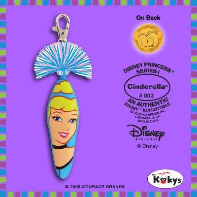 Kooky Klicker Pen Keychain Disney Cinderella White