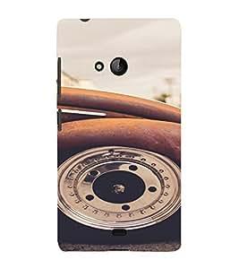 PrintVisa Vintage Car Design 3D Hard Polycarbonate Designer Back Case Cover for Nokia Lumia 540