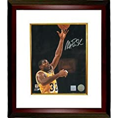 Magic Johnson Autographed Hand Signed Los Angeles Lakers 16x20 Photo Layup Custom...