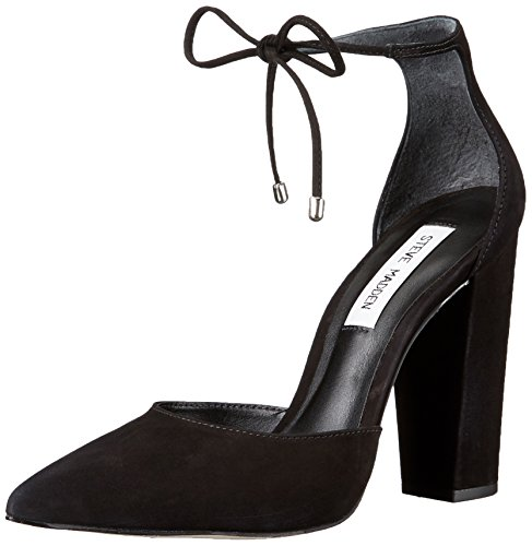 STEVE MADDEN DECOLLETÈ DONNA PAMPERED BLACK NUBUK [SMSPAMPERED-BLK] - 37,5, NERO