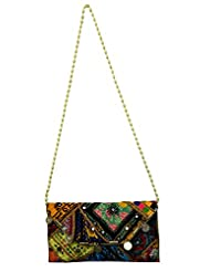 Eco-friendly Patchwork And Thread Embroidered Indian Shoulder Bag Stylish Fashion Purse
