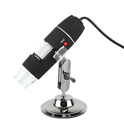 50X-500X 8 Led Light Digital Usb Microscope Endoscope Magnifier Camera Black