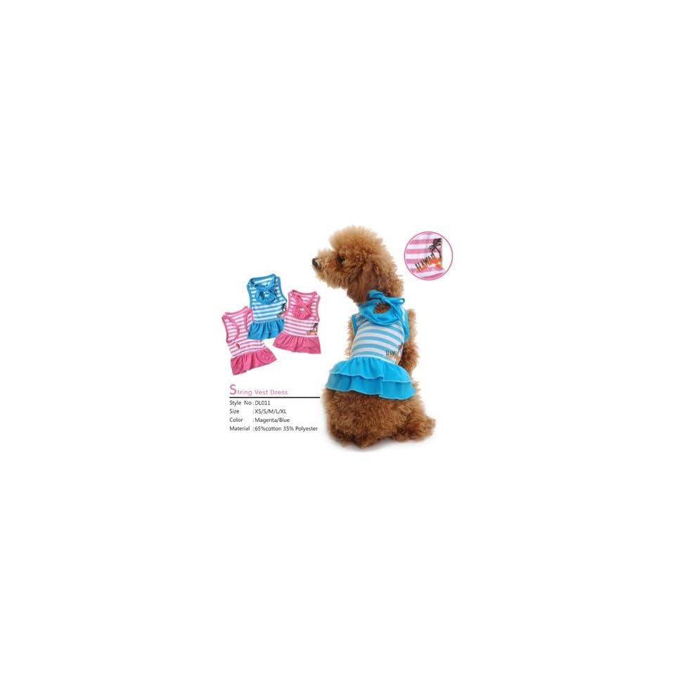 Pet Clothes Hawaiian Dress Dog Clothes, Pink   Small